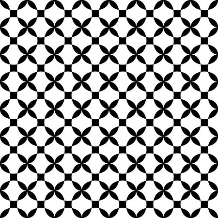 modular rhythm: Vector seamless pattern. Modern stylish texture. Repeating geometric tiles. Concentric circles