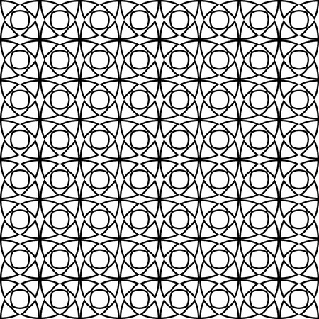modular rhythm: Vector seamless pattern. Modern stylish texture. Repeating geometric tiles. Concentric circles