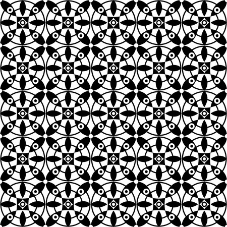 monochromatic: Vector seamless pattern. Modern stylish texture. Repeating geometric tiles. Monochromatic geometric pattern