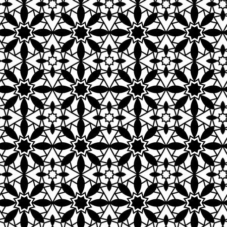 modular rhythm: Vector seamless pattern. Modern stylish texture. Repeating geometric tiles. Monochromatic geometric pattern