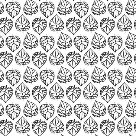 Vector seamless. progettazione grafica lineare. sfondo floreale lineari. foglie stilizzate. Minimalista semplice ornamento