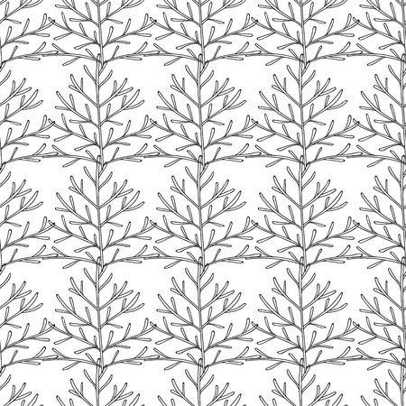 abstract wallpaper: Vector seamless pattern. Linear graphic design.  Floral linear background. Minimalist simple ornament