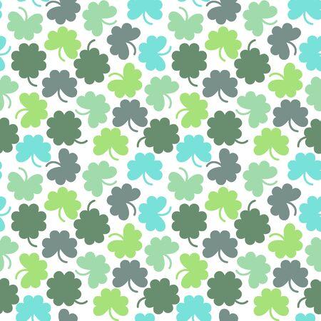 shamrock seamless: seamless background with geometric minimalistic shamrock Illustration