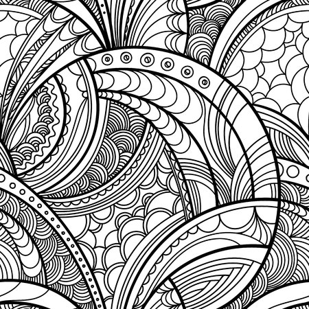 awaking: hand drawn floral seamless pattern, background with floral motif