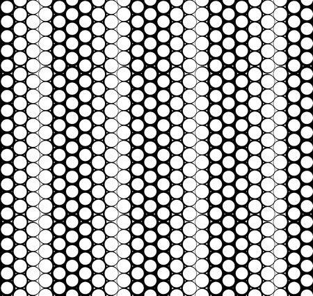 gradual: Vector geometric seamless pattern. Monochromatic simple graphic backround with gradual effect. Repeating texture with circles.