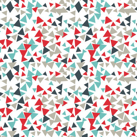 speckle: Vector pattern with random triangles in various colors and sizes. Modern background with simple geometric shapes. Seamless texture. Illustration