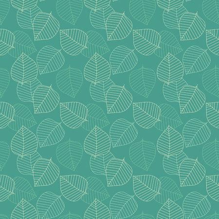 Vector seamless pattern. Decorative geometric leaves. Floral background with elegant botanical motif. Modern stylish ornament. Illustration