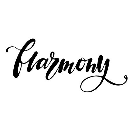 Harmony Hand Written Word To Printable Wall Art, Positive Poster ...