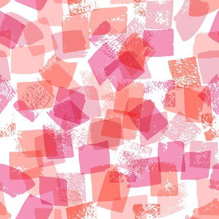 Patrón transparente de vector con pincel dibujado a mano trazos de varios colores Foto de archivo - 77915126