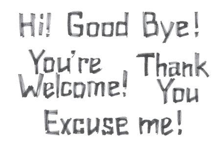 Satz Hand gezeichnete Slogans im Grayscale. Beschriftung. Häufig verwendete Phrasen und Grüße von Hand in Marker gezeichneten Stil. Standard-Bild - 79552870