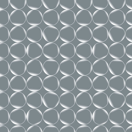seltzer: Vector seamless pattern with realistic bubbles. Abstract background.