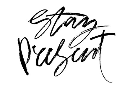 Hand drawn lettering.