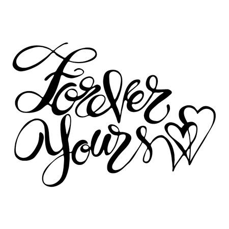 Handgeschriebene moderne Kalligraphie. Standard-Bild - 84172801