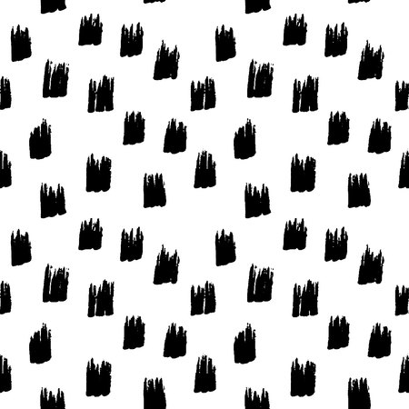 Abstract seamless hand drawn pattern. Modern grunge texture. Monochrome marker painted background. Texture with black strokes.