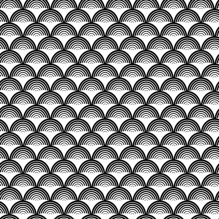 Seamless pattern of geometric scales. Abstract seamless pattern. Graphic ornament. Vector regular texture.