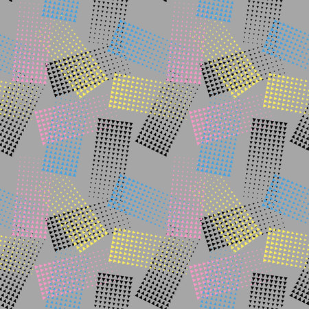 Background colorful halftone gradient vector. Seamless pattern. Vector backround with colorful halftone elements. Geomeric retro background.