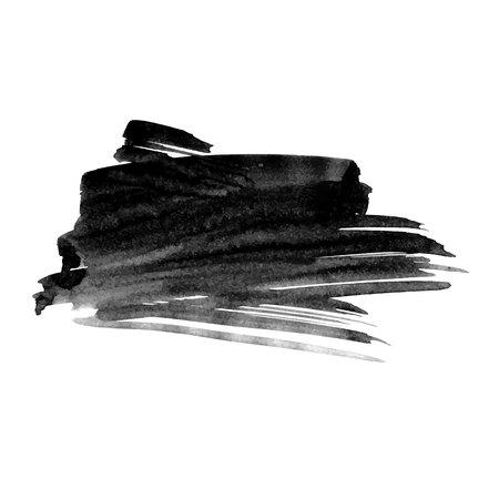 Vector hand drawn watercolor brush stain. Grayscale painted stroke. Painted by brush watercolor stain. Monochrome artistic backdrop. Vectores
