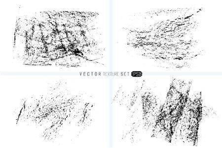 Set of hand drawn spot grunge texture background. Vectores