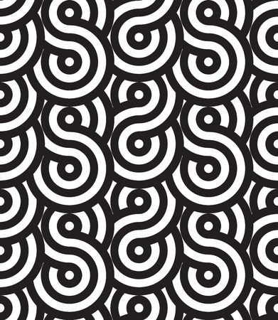 Simple geometric seamless pattern with circular texture. Vectores