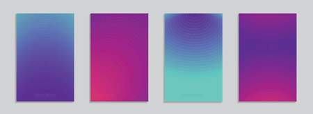 Minimal covers design. Colorful gradients with linear geometric sructure. Future geometric patterns. Eps10 vector. Collection of templates for web, posters, cards and covers. Vectores