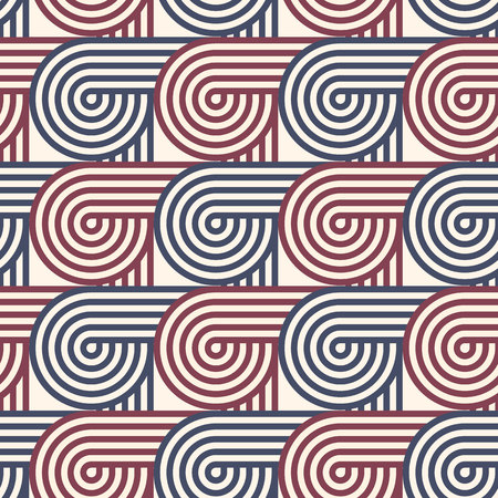 Seamless geometric pattern. Geometric simple print. Vector repeating texture. Linear background. Retro motif graphic texture. 80s style background.