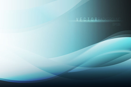 Elegant vector abstract background. Blue abstract wave background. Vectores