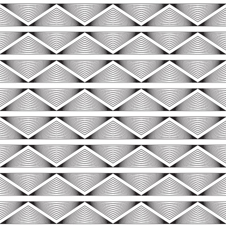 Simple, elegant linear seamless vector pattern with linear triangles. Texture with geometric regular ornament. Repeatable minimalistic background. Vectores