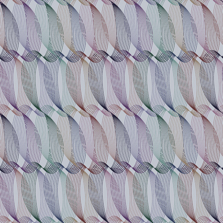 Seamless ripple pattern. Repeating vector texture. Wavy graphic background. Simple linear waves. Vectores