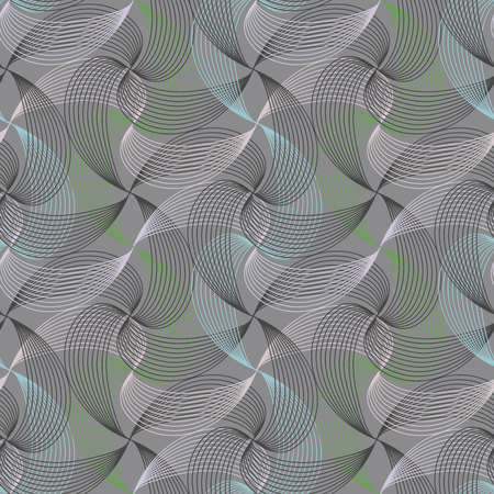 Seamless ripple pattern. Repeating vector texture. Wavy graphic background. Simple linear waves. Illustration