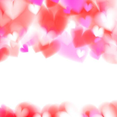 Pink Hearts Bokeh Light Valentine\'s Day Background. Tender Backdrop ...