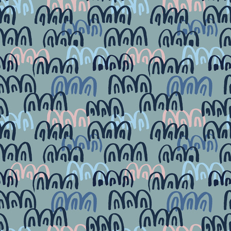 Abstract seamless hand drawn pattern. Modern grunge texture. Colorful brush painted background. Texture with various color strokes.