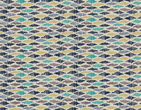Abstract seamless hand drawn pattern. Modern grunge texture. Multicolor pen-brush painted background. Texture with various color strokes in rhombus shape.