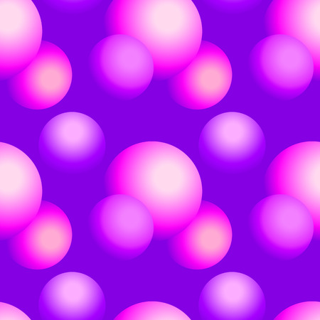 Holographic vector seamless background. Gradient sphere shapes. Colorflul repeatable pattern with vivid neon colors and fluid effect.