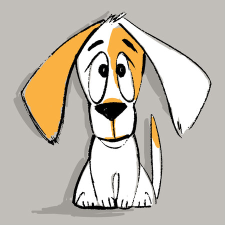 Puppy character vector illustration Vectores