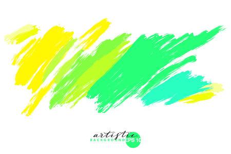 telón de fondo artístico, vector con trazos de pincel, fondo de aspecto de pintura de pincel con manchas coloridas pintadas a mano Ilustración de vector