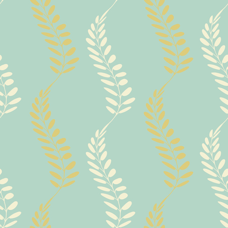 Background with floral motif. Vector texture with hand drawn plants. Vector pattern. Stylised spikelets, natural background.