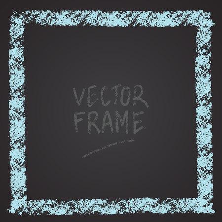 Frame drawn with a crayon. Wax crayon empty shape. Vector image of hand drawn stroke frame. Foto de archivo - 104484027