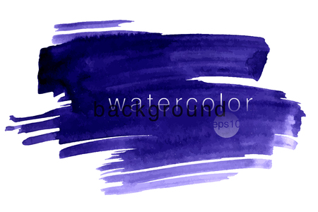 Vector hand drawn watercolor brush stain. Colorful painted stroke. Watercolor effect brushed background.