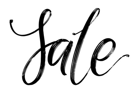 Sale vector lettering. Sale word by hand. Isolated vector illustration. Handwritten modern calligraphy. Inscription for postcards, posters, prints, banners. Ink hand drawn.