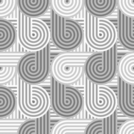 Seamless geometric pattern. Geometric simple print. Vector repeating texture. Linear background. Retro motif graphic texture. 80s style background pattern. Vector repeating texture. Geometric simple print. Ilustração