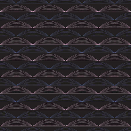 Seamless ripple vector pattern. Repeating vector texture. Wavy graphic background. Simple linear waves