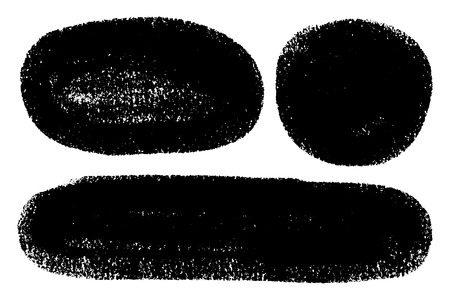 Vector set of hand drawn brush strokes, stains for backdrops. One color monochrome artistic hand drawn backgrounds oval and round shapes. Monochrome design elements set. Illustration