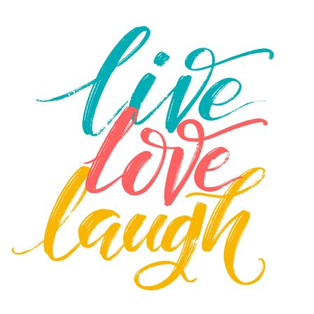 Hand drawn vector typography poster. Inspirational quote live love laugh by hand. For greeting cards, Valentines day, wedding, posters, prints or home decorations. Vectores