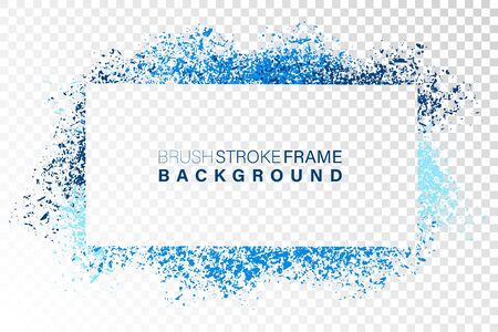Hand drawn grunge frame rectangular shape. Various colors splaches with copy space. Abstract artistic horizontal background. Stock Vector - 131545831