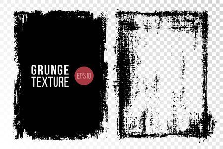Grunge textures set. Backgrounds. Monochrome abstract grain surfaces for design. Stock Vector - 131545836