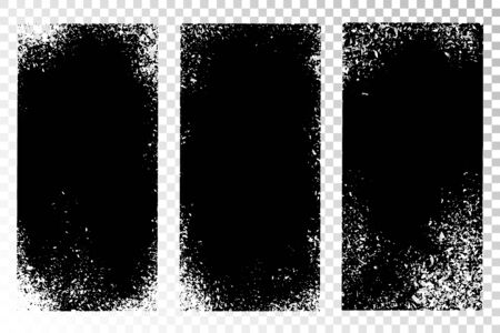 Texture set. Vertical backgrounds. Monochrome abstract textured surfaces for design. Stock Vector - 131545858