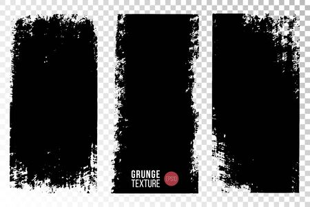 Texture set. Vertical backgrounds. Monochrome abstract textured surfaces for design. Illustration