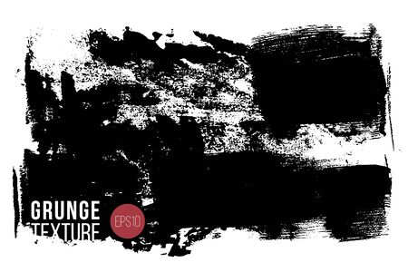Vector big textured hand painted stain. Monochrome ink painted backdrop. One color grungy background.
