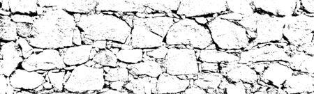 Textura de superposición angustiada de superficie rugosa, rocas agrietadas, muro de piedra. Fondo de grunge. recurso gráfico de un color.