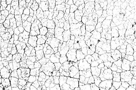 Texture de superposition en détresse de surface rugueuse, sol sec, sol fissuré. Fond grunge. Une ressource graphique en couleur.